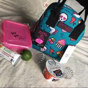 Betsey Johnson Sugar Skulls & Unicorns Lunch Tote